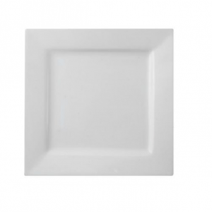 "Dinner Plate 10"" Square Plain White (packs of 10)"
