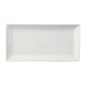 "Dessert Plate 12"" Rectangular Plain White (packs of 10)"