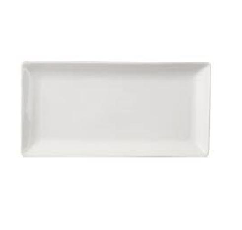 """Dessert Plate 12"""" Rectangular Plain White (packs of 10)"""