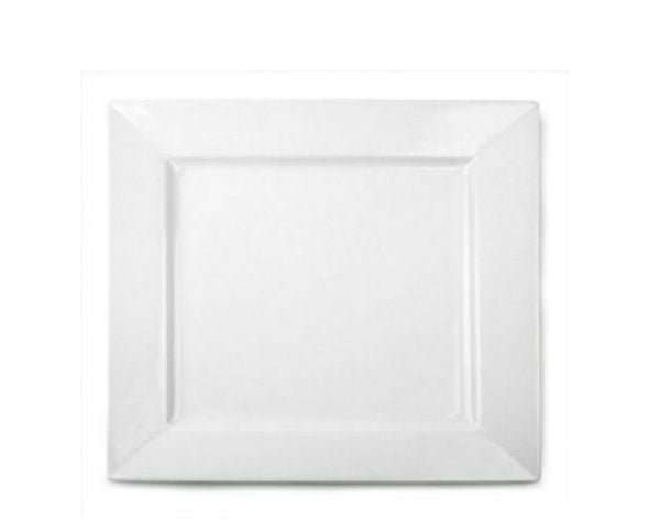 "Dinner Plate 12"" Square Plain White (packs of 10)"