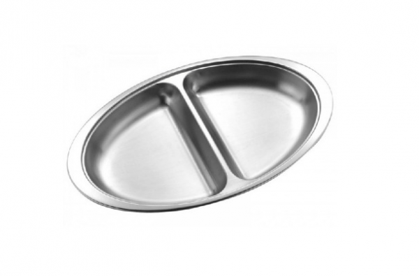 """Vegetable Dish 12"""" 2 Section"""