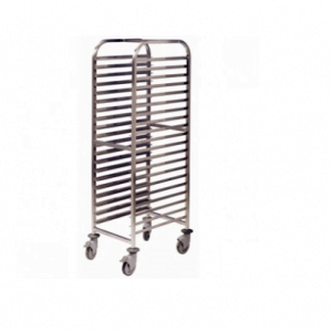 20 Shelf Tall Trolley - With Trays