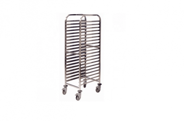 20 Shelf Tall Trolley - With Trays
