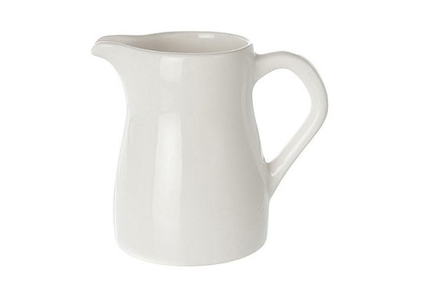 Milk Jug 21oz Plain White