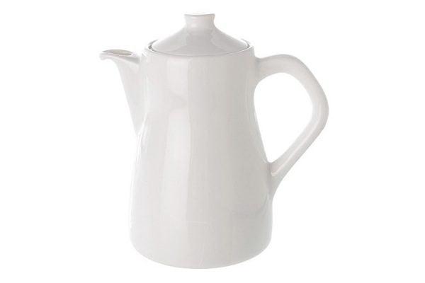 Coffee Pot Plain White