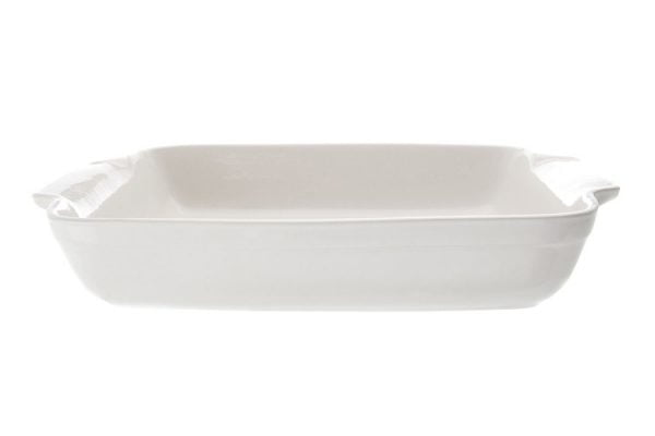 "Oven Proof Dish 12"" Rectangular Plain White"