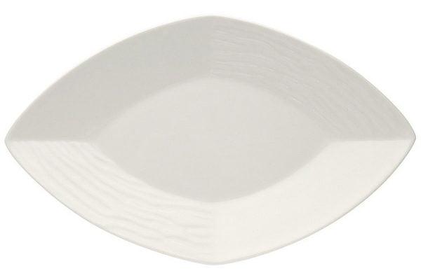 "China Dish 7"" Diamond Shaped Plain White"