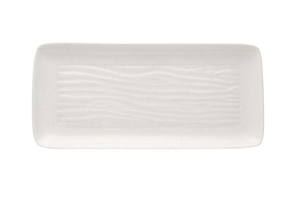 "China Serving Plate 14"" Rectangular Plain White"