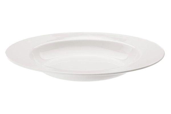 """Pasta Plate 12"""" Plain White (packs of 10)"""