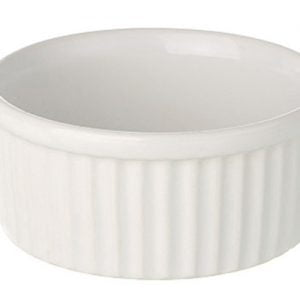 "Ramekin Dish 3.5"" Large Plain White"