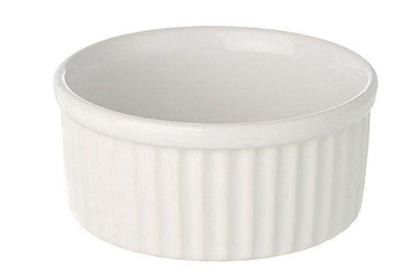 "Ramekin Dish 3.5"" Large Plain White"