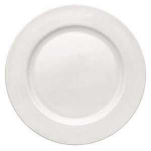 "Dinner Plate 12"" Plain White (packs of 10)"