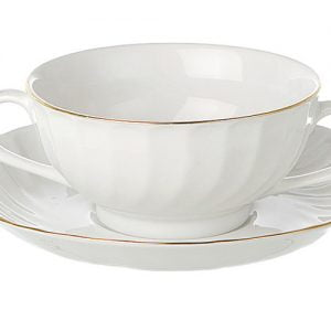 Soup Cup Gold Line (packs of 10)