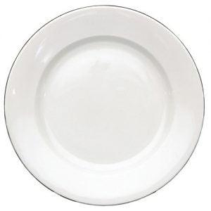 """Dinner Plate 9.5"""" Silver Line (packs of 10)"""