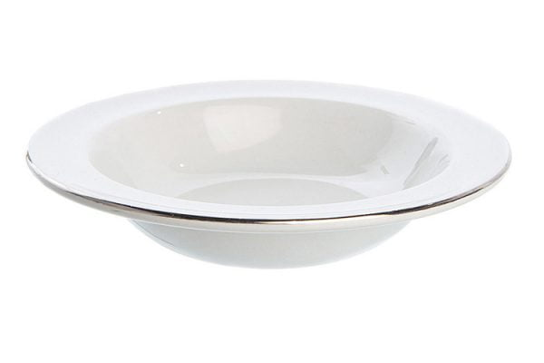 "Dessert Bowl 6.5"" Silver Line (packs of 10)"