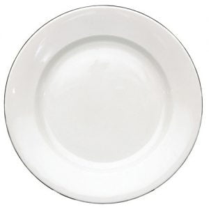 """Buffet Plate 8.5"""" Silver Line (packs of 10)"""