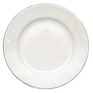 "Side Plate 6.5"" Silver Line (packs of 10)"
