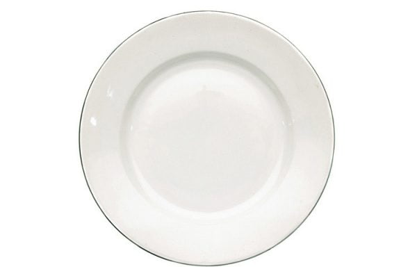 """Side Plate 6.5"""" Silver Line (packs of 10)"""