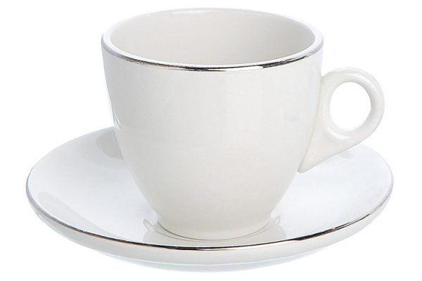Tea/Coffee Cup Silver Line (packs of 10)