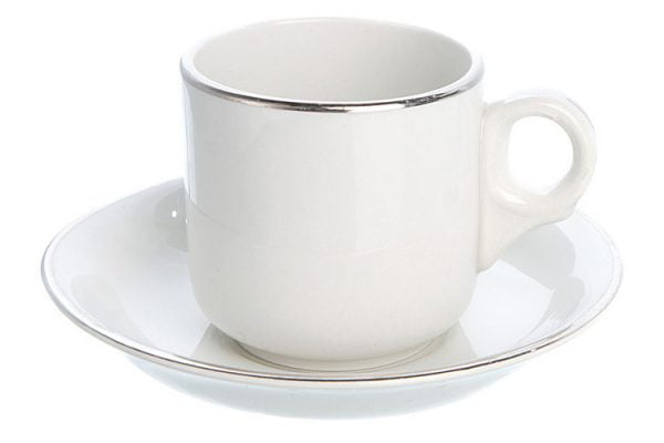 Coffee Cup Espresso Silver Line (packs of 10)