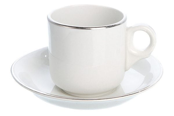 Coffee Saucer Espresso Silver Line (packs of 10)