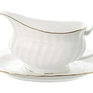 Gravy/Sauce Boat Stand Gold Line