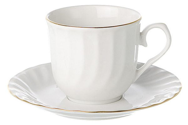 Tea/Coffee Cup Gold Line (packs of 10)
