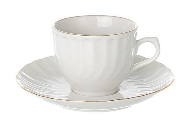 Coffee Saucer Espresso Gold Line (packs of 10)