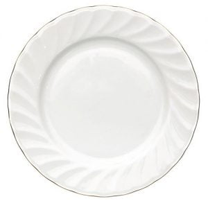 "Dinner Plate 10"" Gold Line (packs of 10)"