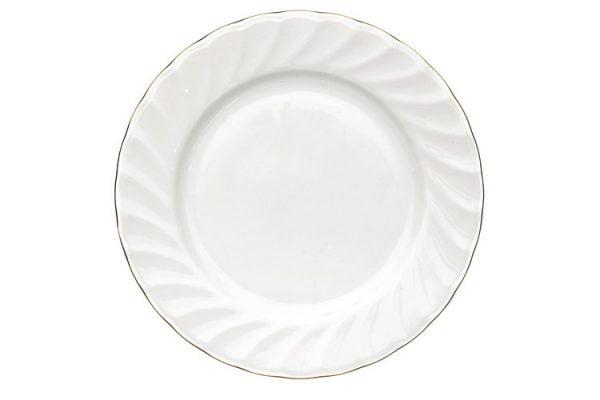 """Dinner Plate 10"""" Gold Line (packs of 10)"""
