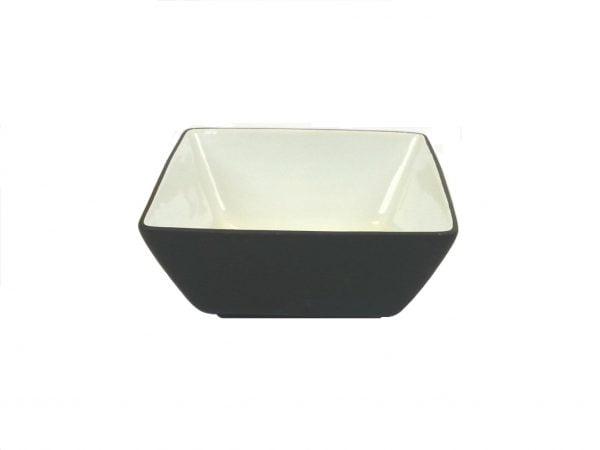 """Black Fruit Bowl 9.5"""" Square"""