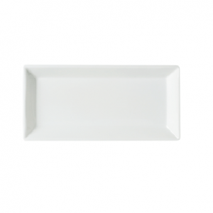 "Dessert/Side Plate 9"" Rectangular Plain White (packs of 10)"