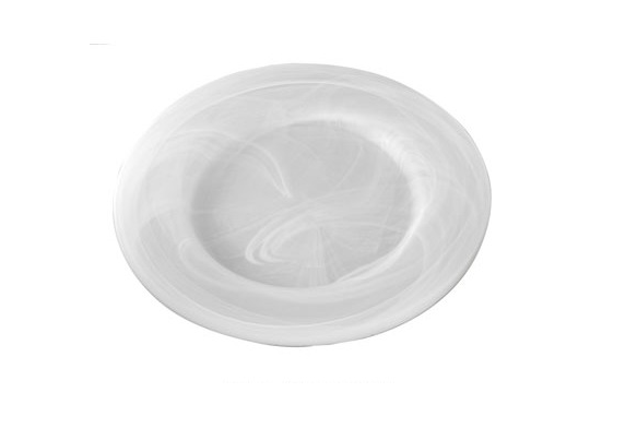 """Charger Plate Frosted Marbled Glass 12.5"""""""