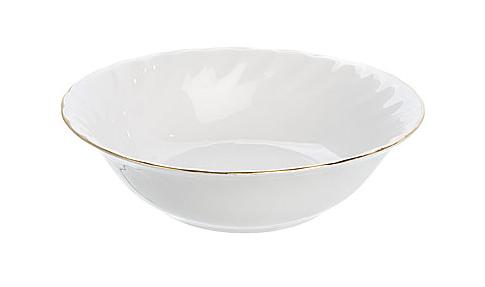 """Dessert Bowl 6.5"""" Gold Line (packs of 10)"""
