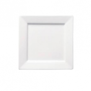 "Dessert/Starter Plate 8"" Square Plain White (packs of 10)"