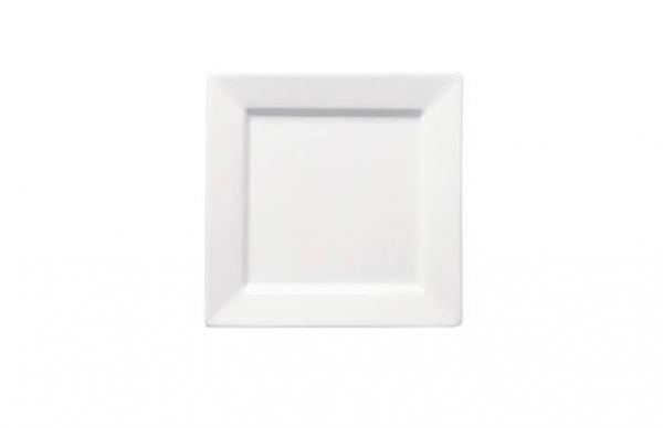 """Dessert/Starter Plate 8"""" Square Plain White (packs of 10)"""