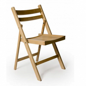 Wooden Fold Flat Chair